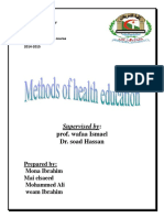 Methods of Health Education
