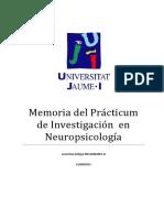 Memoria Practicum Investigacion Neuropsicologia y Neuroimagen Funcional