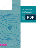 Cost Control and Management Issues of Global Research Infra.