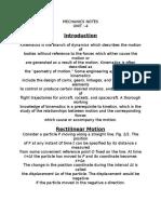 Mechanics Notes 4