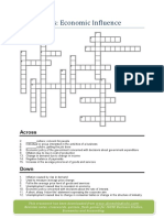 Economics crosswords