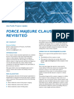 Force Majeure Clauses Revisited