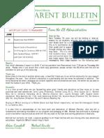 ES Parent Bulletin Vol#19 2016-June-03