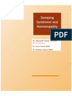 Dumping Syndrome and Homoeopathy