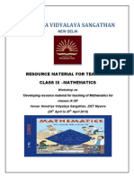 MATHEMATICS RESOURCE MATERIAL FOR CLASS 9