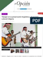 Gobernandora Musica, Lengua Presreva La CULTURA
