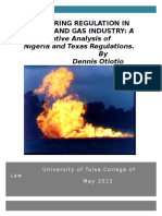 Gas Flaring Regulation in the Oil and Ga