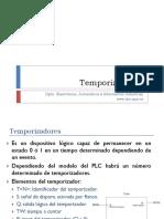 Temporizadores. Materia y diapositivas de la asignatura de automatica