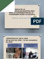Democracia y Ciudadanía en el Lourdes