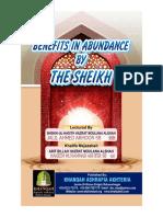 Benefits in Abundance of Sheikh