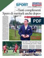 La Provincia Di Cremona 04-06-2016 - Calcio Lega Pro - Pag.1