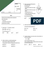 3º Teste Geometria I Produto Escalar