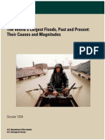 The World's Largest Floods, Past and Present