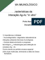 Características Da Interação Ag Ac in Vitro