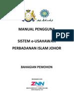 Manual Pengguna Sistem EUsahawan PIJ (Permohonan)