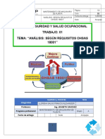 Análisis Según Requisitos Ohsas 18001