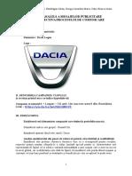Proces Comunicare- Campanie Dacia Logan