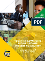 ANC local government election manifesto