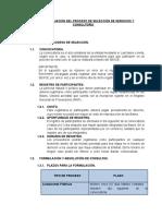 Bases y Calificación . proceso de selección