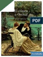 El Crimen de Orcival - Emile Gaboriau