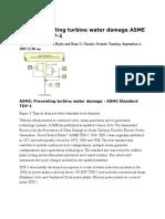 ASME Preventing Turbine Water Damage ASME Standard TDP-1