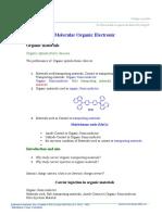 Molecular Organic Electronic