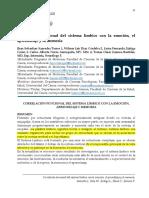 Saavedra Correlación Funcional Del Sistema Límbico Con La Emoción, El Aprendizaje y La Memoria 52874-259718-1-PB