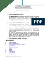 1. Entidades Financieras