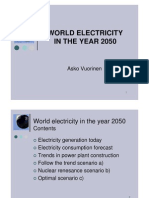 World Electricity in Year 2050 From Optimal Power Systems Dot Com