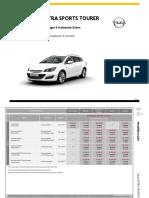 Opel Astra Sports Tourer Preisliste