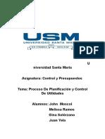 Planificacion y Control de Utilidades