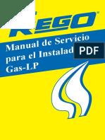 Manual de servicio para el instaladador de gas lp