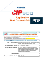 CIP500 Draft Application