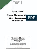 Study Material for Alto Trombone 1 (Sluchin)