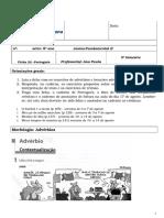 Atividades - Português - Ficha 22 - 8o Ano