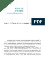 Psicología, DDHH y Género