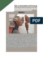 3 Mitos Sobre La Inteligencia Artificial