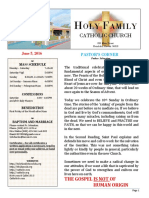 church bulletin 6-5-2016
