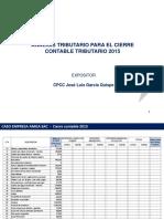 Analisis Tributario Cierre Contable 2015