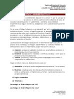 Tema 3, Interpretación de Las Leyes Procesales