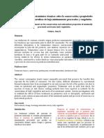 Influencia de Tratamientos Térmicos en Conservación de Vegetales de Hoja (1)