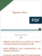 Signals Slots