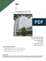 Final Year Handbook 2015 2016