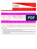 Fee Structure for Target JEE Main and JEE Advanced