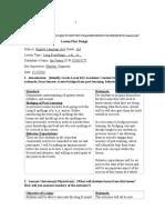 Domain A Artifact 1 Lesson Plan