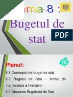 Tema 8. Bugetul de Stat (vio+tabel)
