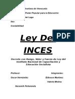 Ley del INCES