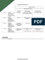 Calendario de Evaluación,1º Bio