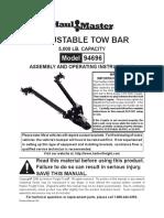 94696 Adjustable Tow Bar