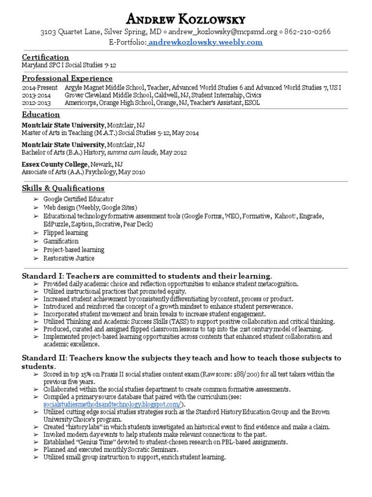 Resume educational technology teachers 1betcityfo Images